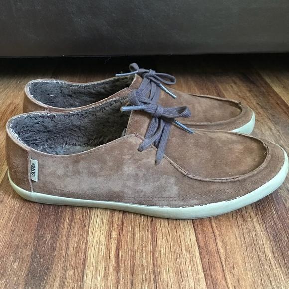 Vans Rata Vulc Brown Suede Fleece Skate